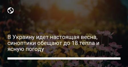 В Украину идет настоящая весна, синоптики обещают до 18 тепла и ясную погоду