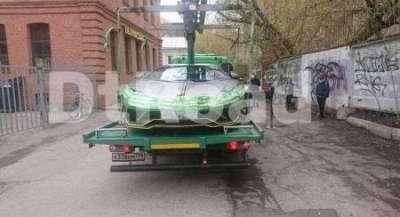Дептранс попиарился на эвакуации Lamborghini Анастасии Ивлеевой