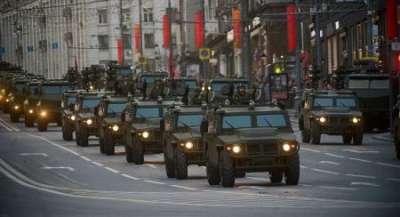 Московские улицы начинают перекрывать для репетиций парада 9 мая