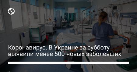 Коронавирус. В Украине за субботу выявили менее 500 новых заболевших